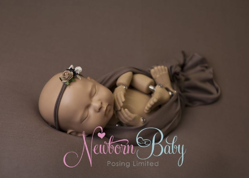 Taupe Backdrop Photography | Newborn Baby Posing Ltd